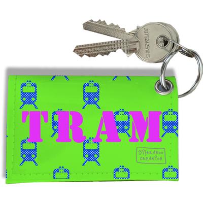 Porte-clés carte de Tram, Etui porte-clés carte de Tram (vert)