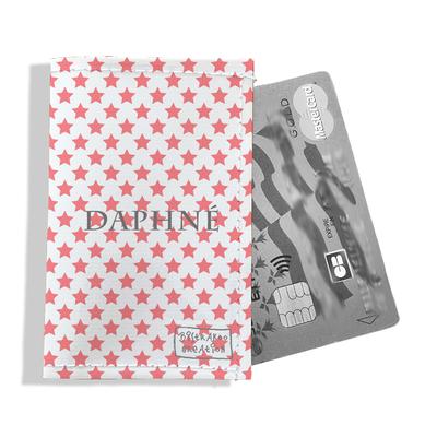 Porte-carte bancaire personnalisé femme étoiles roses P2089-2015