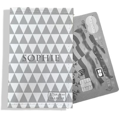 Porte-carte bancaire personnalisé femme graphique gris P2082-2015