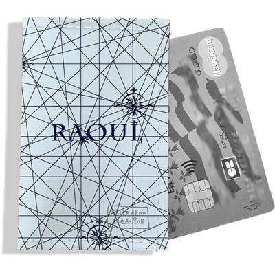 Porte-carte bancaire personnalisé homme Motif Carte bleue marine fond bleu clair Réf. P2143-2015