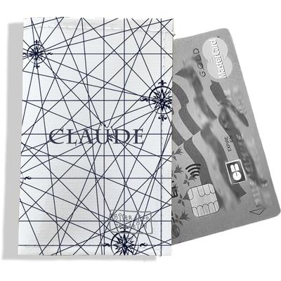 Porte-carte bancaire personnalisé homme Motif Carte bleue marine Réf. P2137-2015