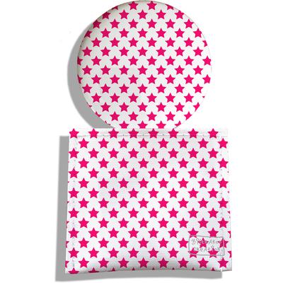 Miroir de Poche avec étui, Miroir de Maquillage Etoiles roses 2091