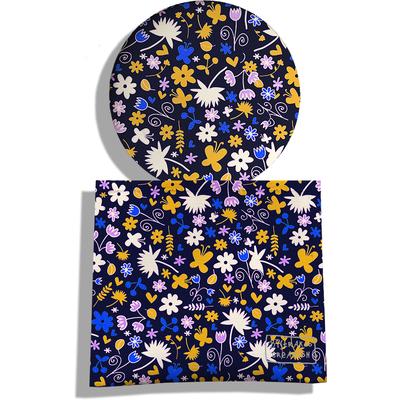 Miroir de Poche avec étui, Miroir de Maquillage Petites fleurs multicolores 1869