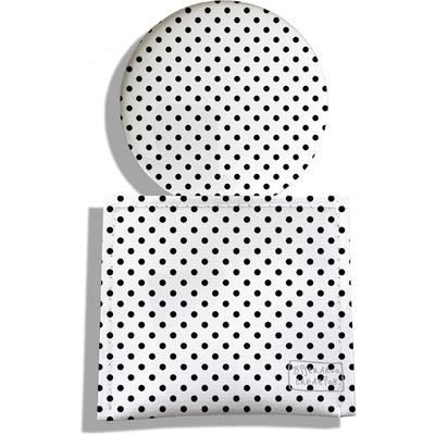 Miroir de Poche avec étui, Miroir de Maquillage Petits pois noirs 2063