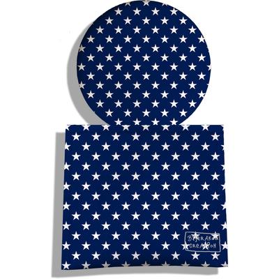 Miroir de Poche avec étui, Miroir de Maquillage Pois blancs fond bleu marine 2088