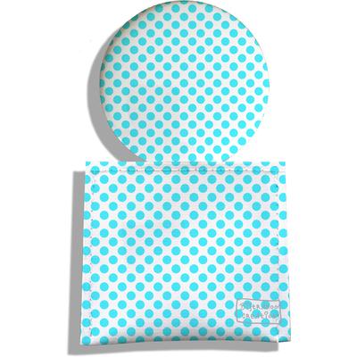 Miroir de Poche avec étui, Miroir de Maquillage Pois bleus 714