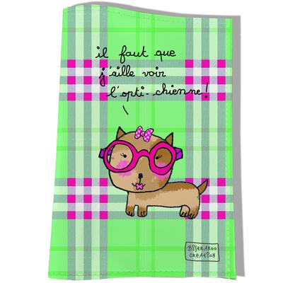 Protège carnet de santé pour chien Il faut que j'aille voir l'opti chienne