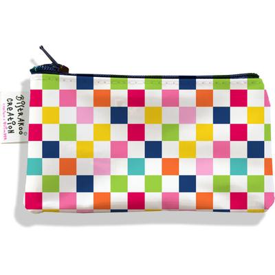 Porte-monnaie femme damier multicolore 3079-2017