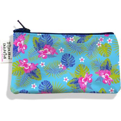 Porte-monnaie femme floral fond bleu 3112-2017