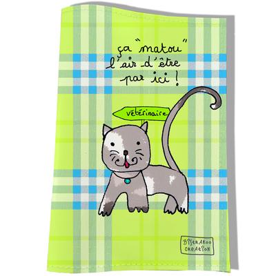 Protège Carnet de Santé pour chat ça Matou l'air d'être par içi