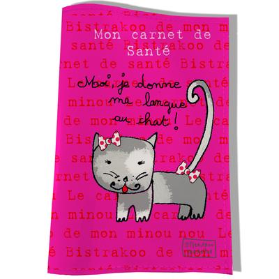 Protège Carnet de Santé pour chat Moi je donne ma langue au chat