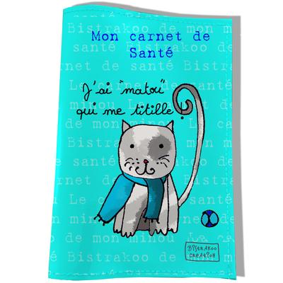 Protège Carnet de Santé pour chat J'ai Matou qui me titille