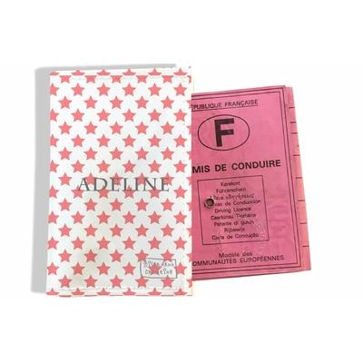 Protège permis de conduire personnalisé pour femme Etoiles roses P2089