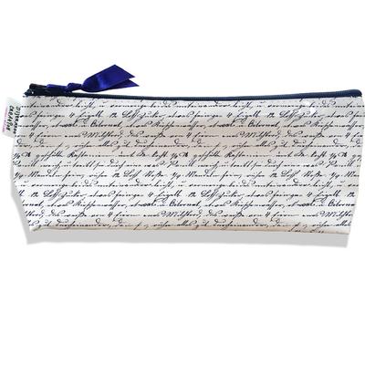 Trousse scolaire, Trousse d'école, Trousse à Crayons Ecritures manuscrites bleu marine 2141