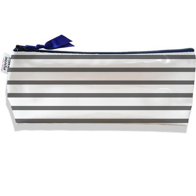 Trousse scolaire, Trousse d'école, Trousse à Crayons Marinière grise 2175