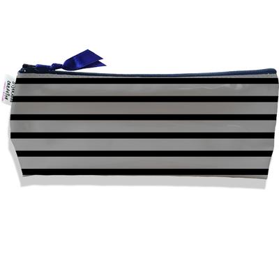 Trousse scolaire, Trousse d'école, Trousse à Crayons Marinière noire et grise 2173