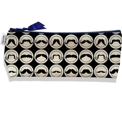 Trousse scolaire, Trousse d'école, Trousse à Crayons Moustaches fond noir 2154