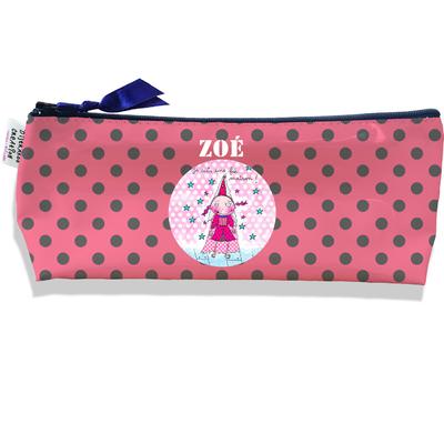 Trousse scolaire personnalisée enfant fille, Trousse école primaire, Trousse à Crayons Coloris rose A0710