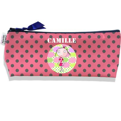 Trousse scolaire personnalisée enfant fille, Trousse école primaire, Trousse à Crayons Coloris rose A1110
