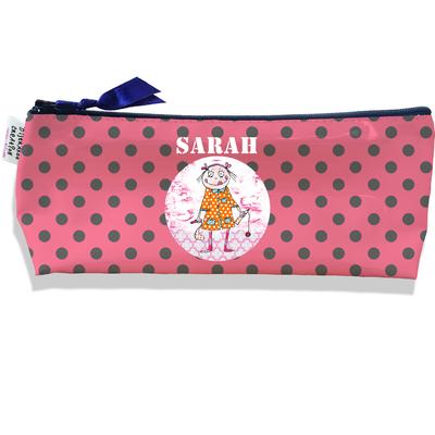 Trousse scolaire personnalisée enfant fille, Trousse école primaire, Trousse à Crayons Coloris rose A1310