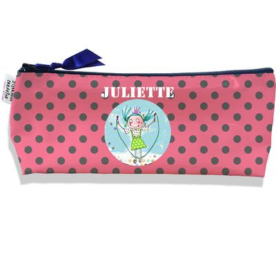 Trousse scolaire personnalisée enfant fille, Trousse école primaire, Trousse à Crayons Coloris rose A1510