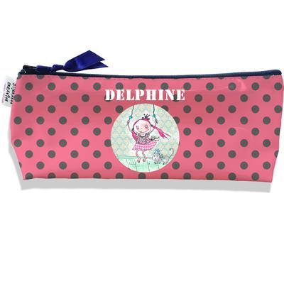 Trousse scolaire personnalisée enfant fille, Trousse école primaire, Trousse à Crayons Coloris rose A1610