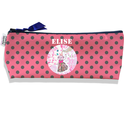 Trousse scolaire personnalisée enfant fille, Trousse école primaire, Trousse à Crayons Coloris rose B1209