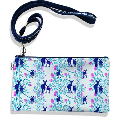 Pochette smartphone 5 & 6 pouces femme Biches bleues 2520