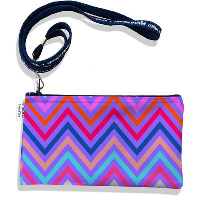 Pochette smartphone 5 & 6 pouces femme Chevrons multicolores 3097