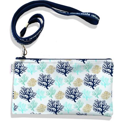 Pochette smartphone 5 & 6 pouces femme Corail bleu 3071