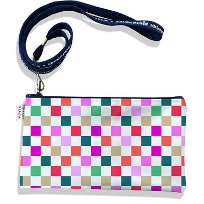 Pochette smartphone 5 & 6 pouces femme Damier multicolore 3077