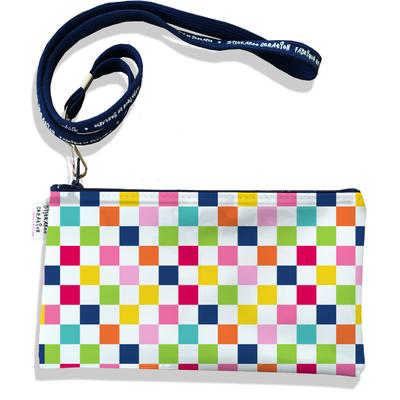 Pochette smartphone 5 & 6 pouces femme Damier multicolore 3079