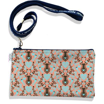 Pochette smartphone 5 & 6 pouces femme Scandinave orange et marron 3230