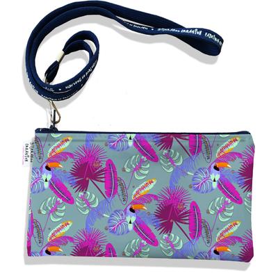 Pochette smartphone 5 & 6 pouces femme Toucan fond gris 2547