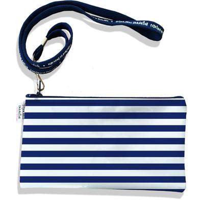 Pochette smartphone 5 & 6 pouces femme Marinière bleu marine 2377