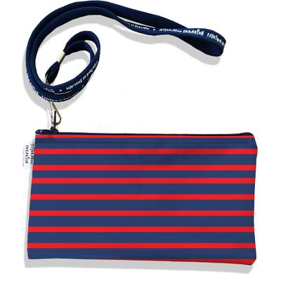 Pochette smartphone 5 & 6 pouces homme Marinière bleu marine et rouge 2170