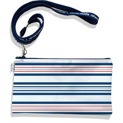 Pochette smartphone 5 & 6 pouces homme Marinière bleue et rouge 3014