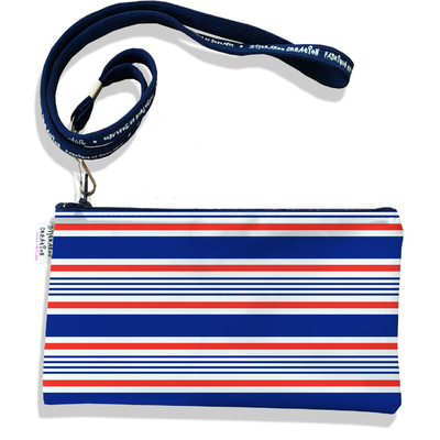 Pochette smartphone 5 & 6 pouces homme Marinière bleue et rouge 3016