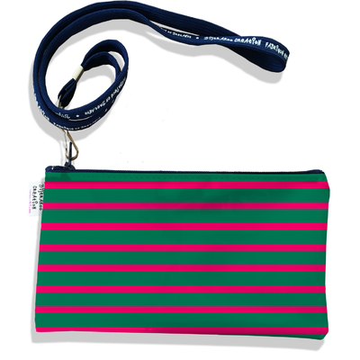 Pochette smartphone 5 & 6 pouces homme Marinière verte et rouge 2168