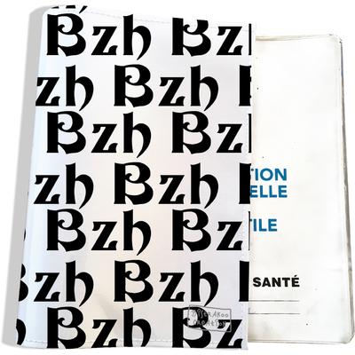 Protège carnet de santé breton BZH Bretagne breizh noir PCS8006