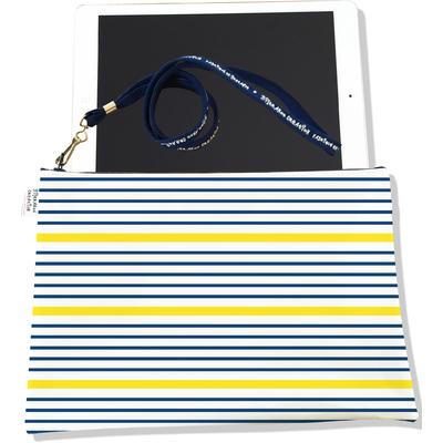 Housse pour tablette Marinière bleu et jaune 3019-2017