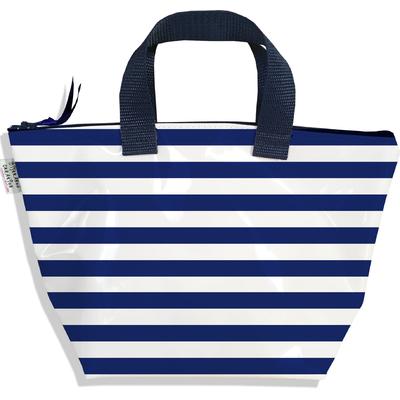 Sac à main zippé pour fille Marinière bleu marine 2377-2016