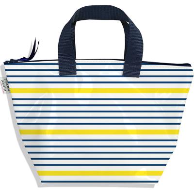 Sac à main zippé pour fille Marinière bleue et jaune 3019-2017