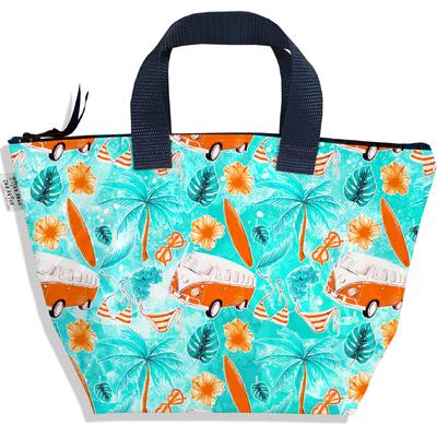 Sac à main zippé pour fille surf van orange et bleu 3137-2017