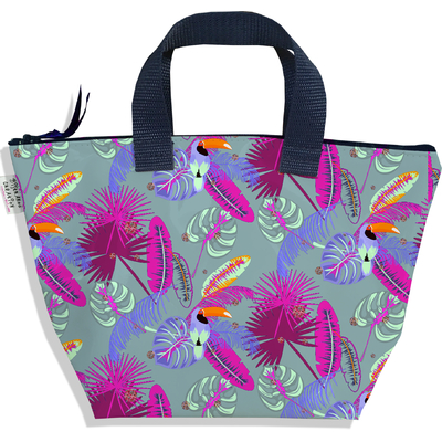 Sac à main zippé pour fille Toucans multicolores 2547-2016