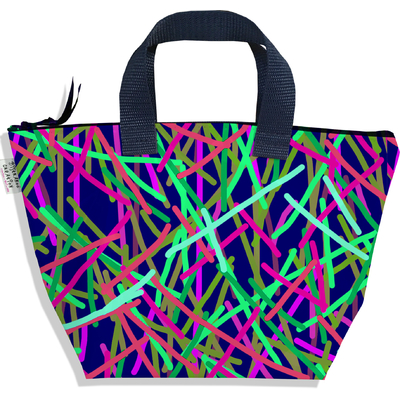 Sac à main zippé pour fille Traits multicolores 2589-2016