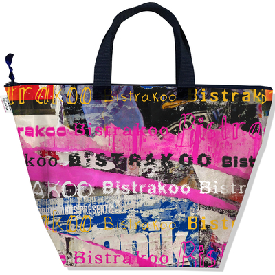 Sac à main zippé pour femme Street art Bistrakoo 2290