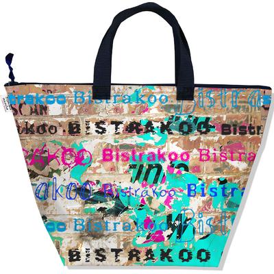 Sac à main zippé pour femme Street art Bistrakoo 2291