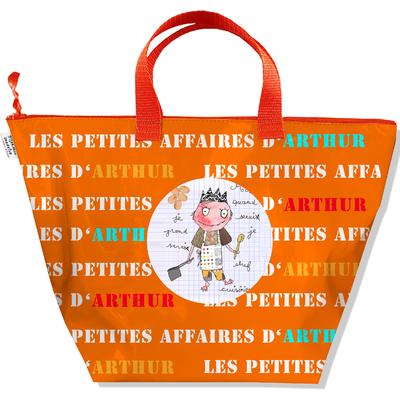 Sac à main personnalisable Garçon, Sac rangement petites affaires de mon bébé Coloris orange C0407