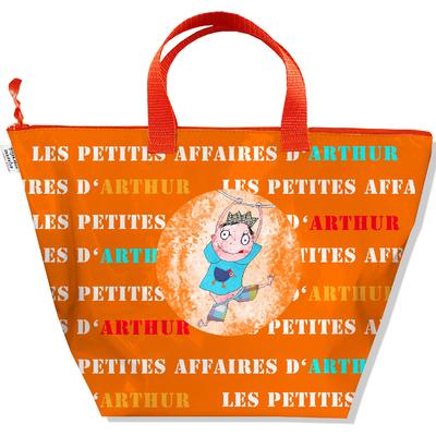Sac à main personnalisable Garçon, Sac rangement petites affaires de mon bébé Coloris orange C0307